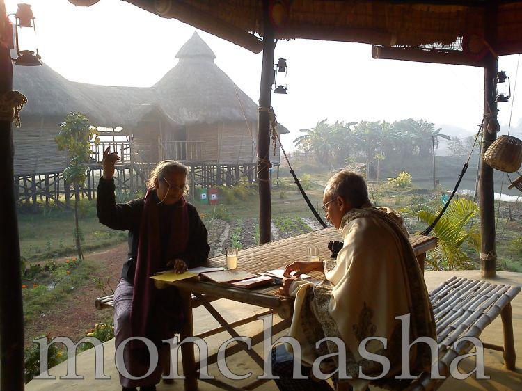 """Back to Childhood :: Brother & Sister reading """"Sahaj Paath"""" of Rabindranath Thakur @ monchasha"""