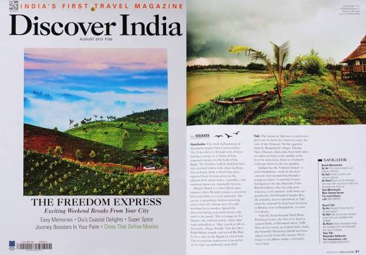 Press Coverage at Discover India - India's First Travel Magazing