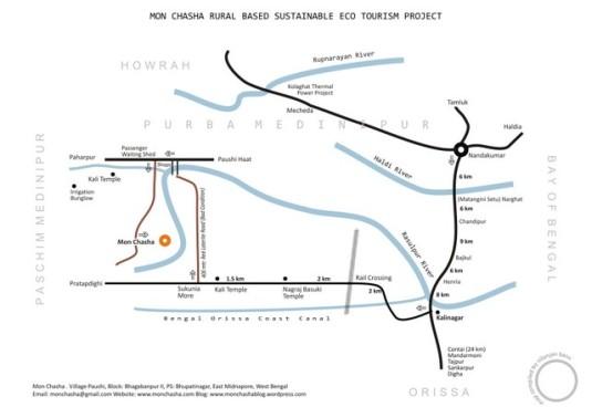 Route Map of Monchasha